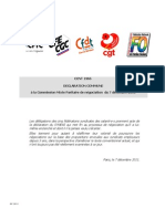 Declaration Intersyndicale CMP 7-12-11