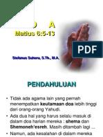 Doa Bapa Kami Matius-6 Khotbah