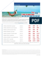 Carnival Early Saver Offer