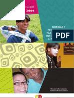 Normas y Procedimientos de Atención Integral de Salud a Adolescentes 2009