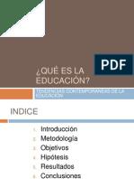 Presentacion monografico ¿Qué es la educación?