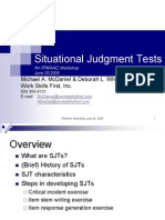 Situational Judgement Test - McDaniel