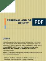 Cardinal and Ordinal Utility