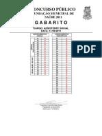 Gabarito Assist Social Fms