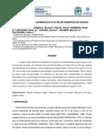 Desinfestação e germinação in vitro de sementes de grapia