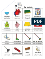 Vocabulari bàsic neteja pictogrames