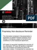 HP ProLiant Xw460c Customer Presentation ARAI