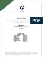 Lehigh Steel Case Analysis
