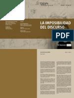 CUADERNILLO IMPOSIBILIDAD DEL DISCURSO