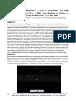Archeoastronomia Ipotesi Preliminari Sui Moti Apparenti Del Sole,Di Sirio e Della Costellazione Di Orione in Relazione Con La Pianta Di Fondazione Di Terra Del Sole