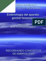 GINECOLOGIA EMBRIOLOGIA PRESENTACION