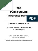 Csound Manual