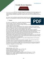 Dr Erector - Portable Electric Stimulator Instruction Manual