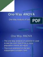 One Way Anova