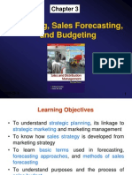 Ch3 Planning, Sales Forecasting, And Budgeting