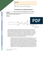 Steven R. Meyers, Frank S. Juhn, Aaron P. Griset, Nathanael R. Luman, and Mark W. Grinstaf- Anionic Amphiphilic Dendrimers as Antibacterial Agents