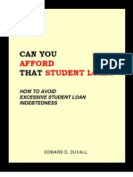 Can You Afford That Student Loan?