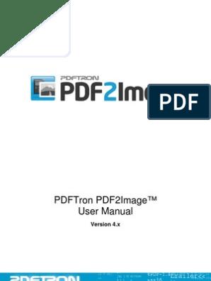 PDFTron PDF2Image User Manual   File Format   Portable