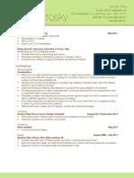 Resume DEC 2011