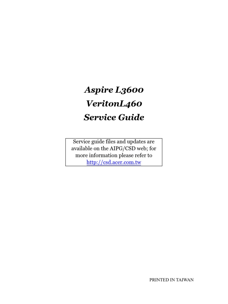 s g aspire l3600 veriton l460 book bios booting rh scribd com Troubleshooting Flow Chart Diagram acer aspire troubleshooting guide