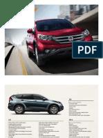 2012 Honda CRV Fact Sheet