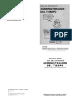 Administración del tiempo - guia del estudiante UNAM