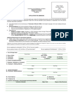 GS Form No. 1 Application Form for Degree Programs
