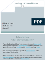 Vasodilators by Hiren Patel