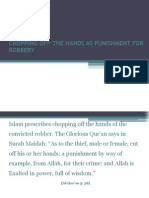 Chopping Off the Hands as Punishment for Robbery