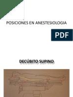 Posiciones en Anestesiologia