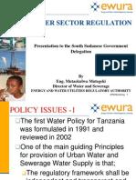 Water Sector Regulation