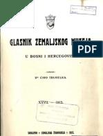 Glasnik Zemaljskog Muzeja 1915./god.27 knj.1