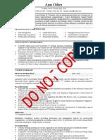 Executive CV Example 1