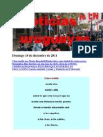 Noticias Uruguayas Domingo 18 de Diciembre de 2011