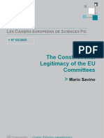 Consitutional Legacy of EU Committees - About Institutional Balance