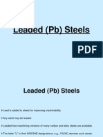 Leaded (Pb) Steels