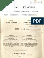 Glasnik Zemaljskog Muzeja 1919./god.31 knj.1