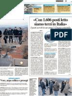 """""""Con 1606 posti letto siamo i terzi in Italia"""" - Il Resto del Carlino del 16 dicembre 2011"""