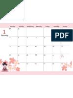 2012.1 calendar