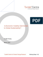 Is Economic Volatility Detrimental to Global Sustainability?
