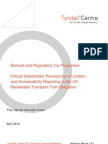 Biofuels and Regulatory Co-Production - Critical Stakeholder Perceptions of Carbon and Sustainability Reporting in the UK Renewable Transport Fuel Obligation