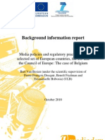 Background Information Report Mediadem (Belgium)