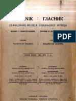 Glasnik Zemaljskog Muzeja 1921.-1922./god.33-34