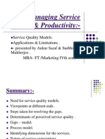 Managing Service Quality & Productivity[1]