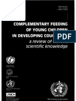 Complementary Feeding of Young Children in Developing Countries by WHO_NUT_98.1