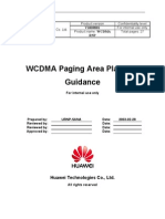 WCDMA RNP Paging Area Planning Guidance-20040716-A-1.0