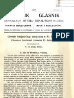 Glasnik Zemaljskog Muzeja 1927./god.39 sv.2