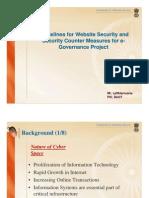 Guidelines for Website Security - Mizoram
