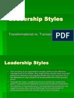 Transformational vrs Transactional