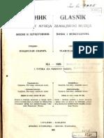 Glasnik Zemaljskog Muzeja 1929./god.41 sv.1